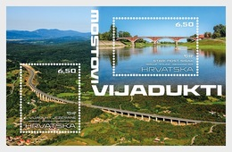Kroatië / Croatia - Postfris/MNH - Sheet Bruggen En Viaducten 2019 - Kroatië