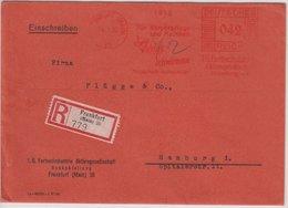 """DR - 42 Pfg. AFS """"Agfa Viskose Schwämme"""", Einschreibebrief Frankfurt A.M. 1932 - - Germany"""