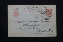 ESPAGNE - Entier Postal De Galaroza Pour Bruxelles En 1906 - L 28026 - Interi Postali