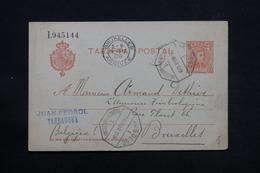 ESPAGNE - Entier Postal De Tarragona Pour Bruxelles En 1909 - L 28027 - Interi Postali