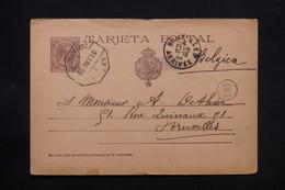ESPAGNE - Entier Postal De Galaroza Pour Bruxelles En 1899 - L 28028 - 1850-1931