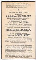 Dp. 3 Oorlogsslachtoffers. Volckaert Adolphine,Malego René,Schollaert Louise. † Gent 1944 (Bomaanval) - Religion & Esotérisme