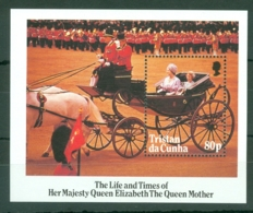 Tristan Da Cunha: 1985   Life & Times Of Queen Mother  M/S  MNH - Tristan Da Cunha