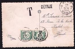 LANGSTEMPEL - NOODSTEMPEL * DEYNZE * - GENT 1932 OP TX 33  - VERSCHILLENDE STEMPELS GENT ? - Niet Courant ! - Postmark Collection