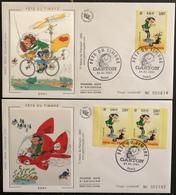 France FDC - Premier Jour - Lot De 2 FDC - Thématique Gaston Lagaffe - 2001 - FDC