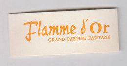 Carte Parfumée Flamme D'or - Cartes Parfumées