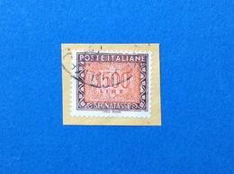 1991 ITALIA FRANCOBOLLO USATO STAMP USED SEGNATASSE 1500 - 6. 1946-.. Repubblica