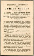 Dp. Oorlog. Gillis Cyriel. ° Kortemark 1898 † Kamp Van Kalla (Thüringen-Duitsland 1945) (Politiek-gevangene) - Religion & Esotérisme