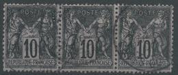 Lot N°48824  Bande De Trois N°103, Oblit Cachet à Date De PENVENAN, Cotes-du-Nord (21) - 1876-1898 Sage (Type II)