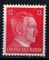 Allemagne III Reich - Germany - Deutschland 1941-43 Y&T N°710B - Michel N°827 * - 12p Hitler - Allemagne