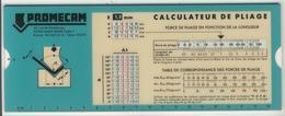 Abaques -     Promecam  -  Calculateur De Pliage (Plastique) - Technical Plans