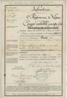 Petit Dossier De 5 Documents . Sergent Secrétaire Au 2e Régiment D'Infanterie De Ligne . 1876-78 . Granville . - Documents