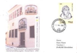 Sangerhauser Kurier  79 Ct  Martin Luther Sonderumschlag Geburtshaus - BRD