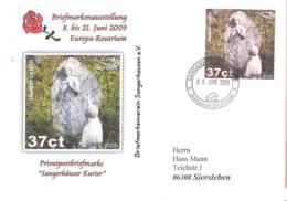 Sangerhauser Kurier  37 Ct  Briefmarkenausstellung 2009 Europa-Rosarium  Sonderumschlag - Private & Local Mails