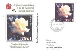 Sangerhauser Kurier  79 Ct  Briefmarkenausstellung 2009 Europa-Rosarium  Sonderumschlag - [7] Repubblica Federale