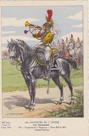 Uniformes Du 1er Empire Trompette Du 7eme Régiment Entre 1805 Et 1810 ( Carte Tirée à 400 Ex ) - Uniformen