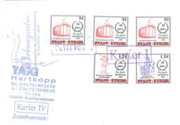 Stadt-Kurier  Quedlinburg 93 (3 X) 1,28 1,74 - [7] Repubblica Federale