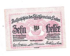 **notgeld  Baden 10 Heller S74 IIb - Autriche