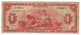 Curacao, 1 Gulden 1942, F+. - Netherlands Antilles (...-1986)