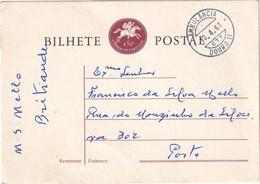 PORTUGAL 1961   ENTIER POSTAL/GANZSACHE/POSTAL STATIONERY CARTE AVEC CACHET FERROVIAIRE - Postwaardestukken