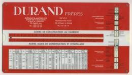Abaques -     Durand Frères (Plastique) - Technical Plans