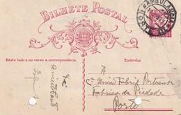 PORTUGAL 1935   ENTIER POSTAL/GANZSACHE/POSTAL STATIONERY CARTE AVEC CACHET FERROVIAIRE - Postwaardestukken