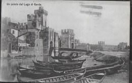 UN SALUTO DAL LAGO DI GARDA - FORMATO PICCOLO - VIAGGIATA 1911 - ANNULLO TONDO-RIQUADRATO SERMIONE/(BRESCIA) - Saluti Da.../ Gruss Aus...