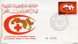 """Maroc;FDC 1978;TP N°810 """" Xème Conférence Du Croissant Rouge Et De La Croix Rouge """"Morocco,Marruecos - Morocco (1956-...)"""