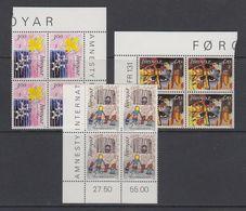 Faroe Islands 1986 Amnesty International 3v Bl Of 4 (corners) ** Mnh (42571B) - Faeroër