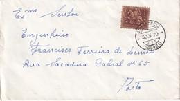 PORTUGAL 1970  LETTRE AVEC CACHET FERROVIAIRE - 1910-... République