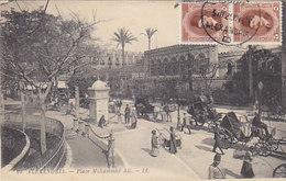 Alexandria - Place Mohammed Ali - 1925 - M.Strafporto     (190425) - Alejandría