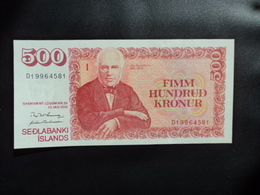 ISLANDE : 500 KRÓNUR  22.5.2001    P 58b     NEUF - IJsland