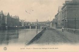 CPA - Belgique - Thuin - Chemin De Hallage Et Vue Du Pont - Thuin