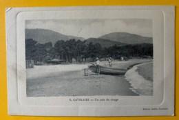 8550- Cavalaire Un Coin De Plage Oblitération Ambulant Genève-Culoz-Genève 12.07.1911 - Cavalaire-sur-Mer