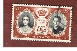 MONACO   -  SG 582   - 1956 ROYAL WEDDING      -   USED - Monaco