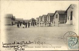 Cp El Kreider Algerien, Interieur Du Camp Baraque, Baracken, Soldaten Auf Dem Kasernenhof, J. Geiser - Unclassified
