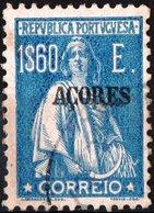 AZZORRE, AZORES, ACORES, PORTUGUESE COLONY, CERES, 1925, 1,60 E., USATO Mi. 231,  Scott 230,  YT 219, Afi 213 - Azores