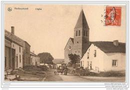 HERBEUMONT ..-- L' Eglise .  1909 Vers SEDAN ( Mme RENAULT , Au Moulin à Vent ) . Attelage De Chiens !! - Herbeumont