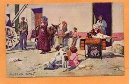 Palermo Italy 1905 Card Singer Adv - Palermo