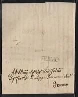 DA MONTERUBBIANO A FERMO - 21.9.1820. - Italia