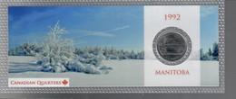 Canada 1992 1/4 $ Monitoba - Canada