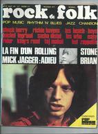 ROCK &  FOLK N°31 1969  MICK JAGGER  LES WHO LED ZEPPELIN - Muziek