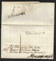 DA CIVITANOVA A MONSANPIETRANGELI - 14.10.1849. - Italy