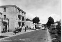 """M08037 """" CAMPOMARINO-VIALE MARCONI """"ANIMATA-AUTO ANNI '40/50  -CART. ORIG. SPED.1957 - Italie"""