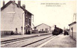 21 IVRY-en-MONTAGNE - Intérieur De La Gare - Autres Communes