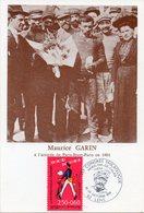 LENS (PAS DE CALAIS) : CYCLISME Oblitération Temporaire 1993 Maurice GARIN Vainqueur Du 1er TOUR DE FRANCE Sur CP - Cyclisme