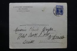 LETTONIE - Enveloppe De L 'Attaché Commerciale De France De Riga Pour Paris , Redirigé Vers La Suisse En 1935 - L 28072 - Latvia