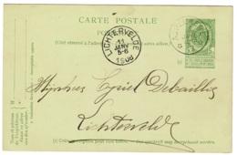 BR-8715   ASPELAERE    Sterstempel Op PW Naar LICHTERVELDE - 1893-1907 Armoiries