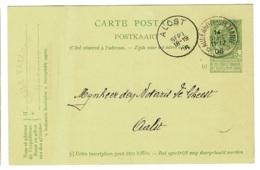 BR-8716   AUDENHOVE STE MARIE    Sterstempel Op PW Naar  AALST - 1893-1907 Wappen