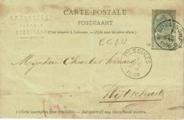 BR-8725   BOESINGHE  ECDU    Sterstempel Op PW Naar  WIJTSCHAETE - 1893-1907 Armoiries